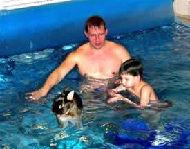 Hasen Schwimmkurs