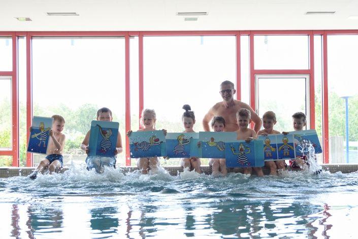 Erfolgreiche Teilnahme am Kinderschwimmkurs in Bamberg